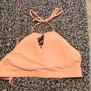 halter pale pink athleta bikini top